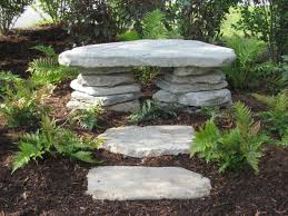 outdoor bench of stacked stone gardening u2022 u0026 u2022 outdoors