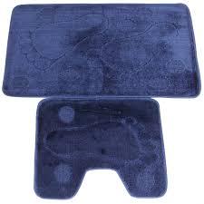 navy blue bath mat set creative rugs decoration non slip bath mats shower mats ahoc ltd 2pc non slip bath mat pedestal set navy ahoc ltd 2