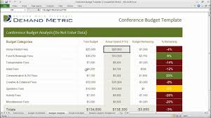 Spreadsheet For Budgeting Conference Budget Template Youtube