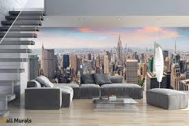 mural daily view of new york manhattan maxi size wall mural daily view of new york manhattan maxi size
