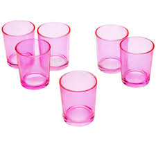 light pink votive candle holders light in the dark pink glass round votive candle holders set of 12