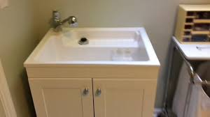 Glacier Bay Kitchen Faucet Installation Glacier Bay Laundry Sink Cabinet Review And Installation Youtube
