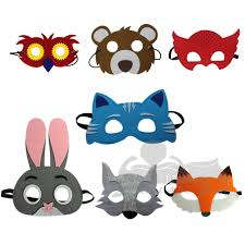 zootopia felt masks for birthday party halloween christmas and