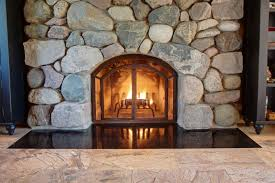attractive custom fireplace door acting as decorative elements