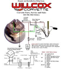 1963 1967 corvette fuel gauge wiring schematic willcox corvette
