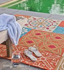 Outdoor Rug Uk Namada Orange Rug A Woven Polypropylene Loop Outdoor Rug