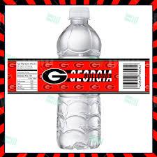 sports invites georgia bulldogs bottle labels
