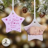 personalized baby christmas ornament personalized baby photo christmas ornaments it s a boy or girl