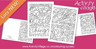 2 colouring quote pages cards series