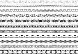 ornamental border vector pack free vector stock