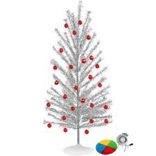 aluminum tree with color wheel set home