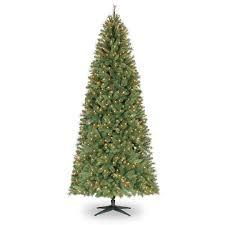 artifical christmas trees 9 ft pre lit slim willow pine artificial christmas tree clear