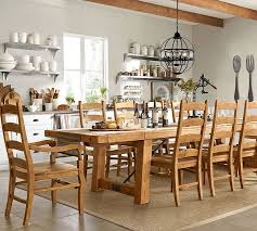 pottery barn kitchen furniture benchwright extending dining table vintage spruce pottery barn