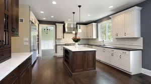 wood kitchen cabinets with white island kitchen remodeling atlanta kitchen renovations services