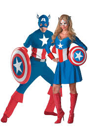 halloween costumes captain america matching classic captain america couples costumes fantastiquecostume
