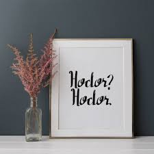 hodor poster game of thrones home decor popsugar home photo 7