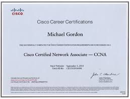 Ccna Resume Sample by Michael G Gordon Html Resume