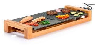plancha de cuisine bigbuy plancha de cocina eléctrica bamboo duo princess 103025