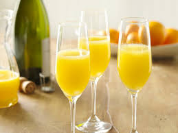 traditional brunch drinks mimosa bellini and kir