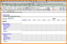 budget bills template operating budget template