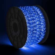 Christmas Rope Lights Blue by 300 U0027 Led 2 Wire Blue Rope Light Home Patio Party Christmas