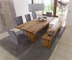 esstisch holz echtholz tisch esstisch mit wangenfuss 240x100cm wildeiche massiv