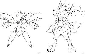 similar pokemon coloring book pages mega lucario mega