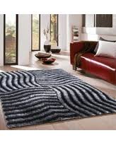 Modern Shag Area Rugs Deal Alert Electricity Ombre Rug Black 8 X10