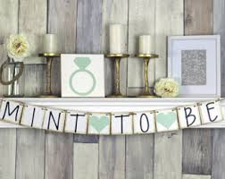 mint to be bridal shower mint and gold confetti table decorations birthday