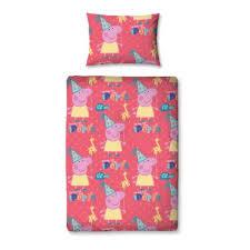 Peppa Pig Duvet Cover 100 Cotton Peppa Pig Funfair 4 Piece Junior Bedding Set Great Kidsbedrooms