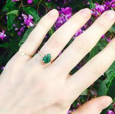 Geode Ring Box Malachite Ring Green Stone Ring Pear Shape Ring Pear Shape