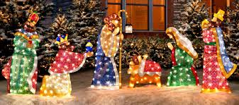 nativity outdoor outdoor lighted nativity sets for sale as outdoor wall lighting