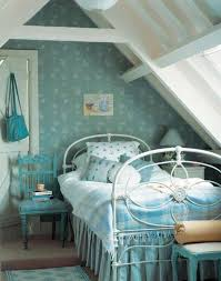 bedroom classic attic bedroom idea using white iron bed frame and