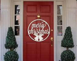 Door Monogram Decoration Snowflake Monogram Holiday Wooden Monogram Letters