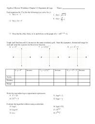 precalculus logs and exponents review