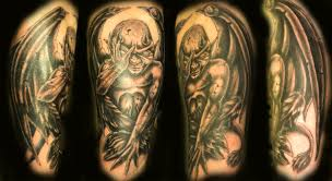 demon gargoyle tattoo design photos pictures and sketches
