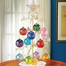 ornament display tree 4 tiered tree wire ornament stand