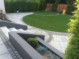 Small Garden Retaining Wall Ideas In A Square Garden Marshalls Garden Patio Grey Habitat
