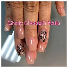 chely cheetah nails acrylic nails cheetah print nail art