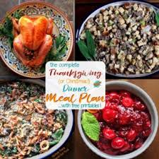 thanksgiving dinner meal plan and shopping list