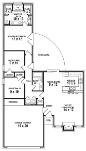 2 Bedroom 2 Bath House Plans by 3 Bedroom 2 Bath Floor Plans
