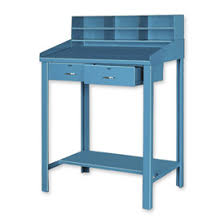 Blue Computer Desk by Shop U0026 Receiving Desks At Global Industrial