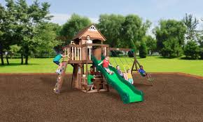 Backyard Discovery Monticello Wooden Swing Sets Backyard Discoovery