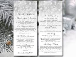 winter wedding programs winter wedding program template snowflake showers silver