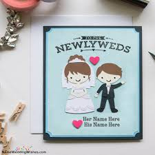 Wedding Card Messages Newlyweds Wedding Card Messages With Name