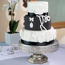amazon com victoria antique silver 12 inch metal cake stand