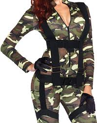 military halloween costume paratrooper camo military army jumpsuit bodysuit