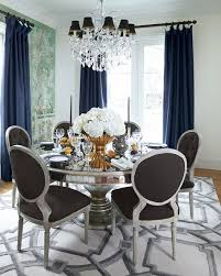 Circular Dining Room Tables - john richard collection lisandra antiqued mirrored round dining table