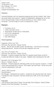 Mixologist Resume Example by Sample Bartending Resumes Resume Templates