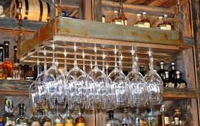 clever ways of adding wine glass racks to your home u0027s décor